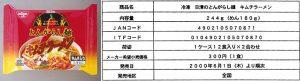 とんがらし麺(2000年5月冷凍麺)